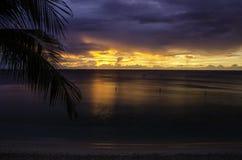 Solnedgång Barbados Arkivbild