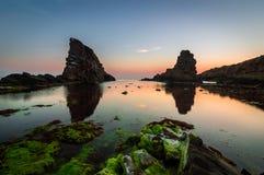 solnedgång Black Sea Royaltyfri Foto