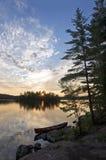 Solnedgång - Bon Echo Provincial Park, Ontario arkivfoto