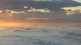 Solnedgång Byron Bay arkivfilmer