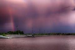 Solnedgång Cloudscape Fotografering för Bildbyråer
