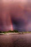 Solnedgång Cloudscape Arkivbild