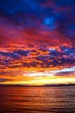 Solnedgång Cloudscape Arkivbilder