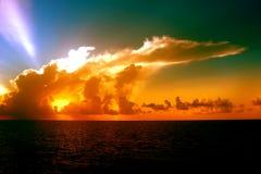 Solnedgång Cloudscape i Florida Arkivbilder