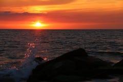Solnedgång cm 10 Arkivfoto