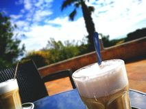 Solnedgång Coffeé Arkivbild