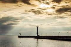 Solnedgång efter stormen Royaltyfria Foton