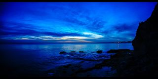 Solnedgång efter tid Cypern (4k) stock video