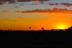 solnedgång för ökendubai dyner Arkivfoton