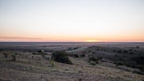 solnedgång för ökendubai dyner Royaltyfria Bilder