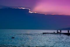 solnedgång för 01 sochi Arkivfoton