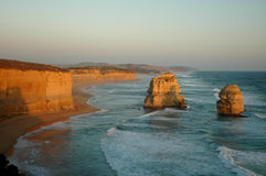 solnedgång för 12 apostlar Royaltyfria Bilder
