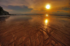 solnedgång för 2 phuket Arkivfoto