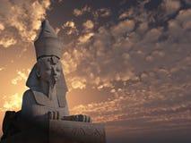 solnedgång för 2 sphinx Fotografering för Bildbyråer