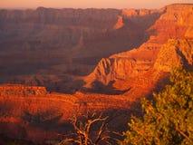 solnedgång för 3 grandview arkivbild