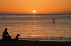 Solnedgång för 3 Arkivbilder
