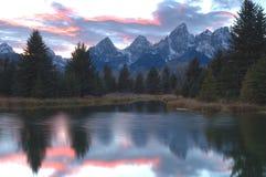 solnedgång för 4 landa schwabachers Royaltyfria Foton