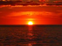 solnedgång för 6 flod royaltyfria foton