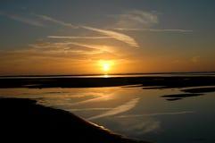 solnedgång för 6 höst Arkivfoton