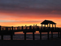 solnedgång för 60 pir Royaltyfri Foto
