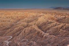 solnedgång för anzabadlandsborrego Arkivbild