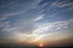 Solnedgång för bakgrund Royaltyfri Foto