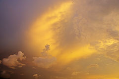 solnedgång för bakgrundsbildsky Arkivbild
