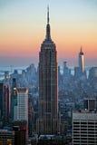 solnedgång för byggnadsväldetillstånd Royaltyfri Foto