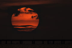 Solnedgång för Chesapeakefjärd Royaltyfri Fotografi