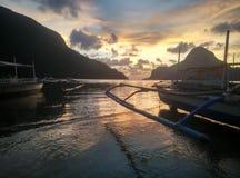 Solnedgång för El Nido Royaltyfri Bild