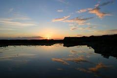 solnedgång för fjärddorset kimmeridge Arkivbilder
