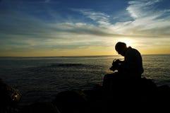 solnedgång för fotograf iii Arkivfoton