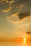 solnedgång för hav för bakgrundsbild Royaltyfria Bilder