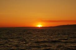 solnedgång för hav s Royaltyfri Fotografi