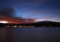 solnedgång för hilokeamauna Arkivbild