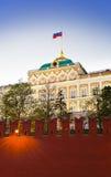 solnedgång för kremlin moscow slottpresident Royaltyfri Foto