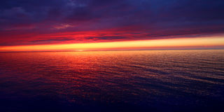 Solnedgång för Michigan semesterstrand Royaltyfri Bild