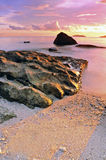 Solnedgång för pastellfärgad färg Arkivbild