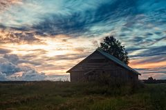 Solnedgång för sen sommar Royaltyfri Foto