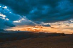 solnedgång för sky för aftonliggandehav Royaltyfri Fotografi