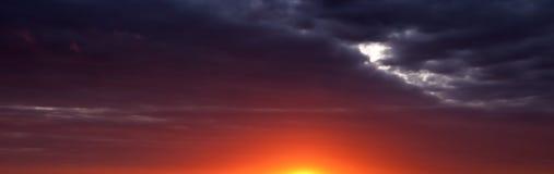 solnedgång för soluppgång för abstrakt banerpanorama panorama- Royaltyfri Bild