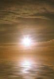 solnedgång för sommar för dagslut varm Royaltyfria Foton