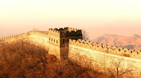 Solnedgång för stor vägg royaltyfri fotografi