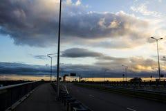 Solnedgång för stormen Royaltyfri Foto