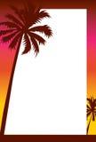 solnedgång för strandkantinbjudan Royaltyfri Bild