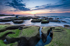Solnedgång för Tindakon dazangkudat Royaltyfri Fotografi