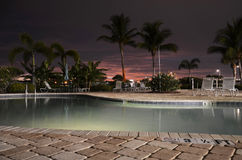 Solnedgång Florida Royaltyfri Foto