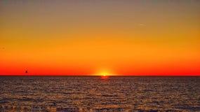 Solnedgång Forte dei Marmi Royaltyfri Bild