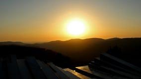 Solnedgång från Arthur Rubinstein Memorial Royaltyfria Bilder