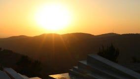Solnedgång från Arthur Rubinstein Memorial Arkivfoton